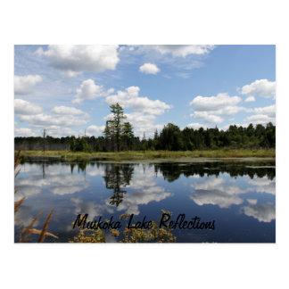 Postal - reflexiones del lago Muskoka