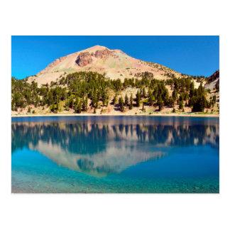 Postal Reflexiones en el lago Helen, Lassen volcánico