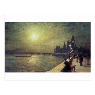 Postal Reflexiones en el Thames, Westminster de Juan