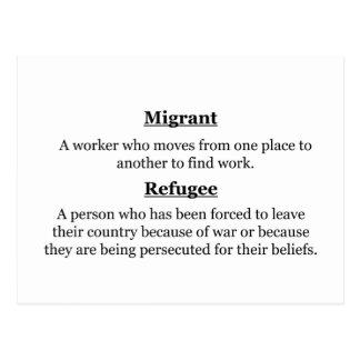 Postal Refugiados migratorios