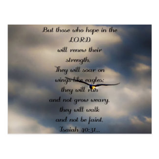 Postal Regalo cristiano de encargo del verso de la biblia