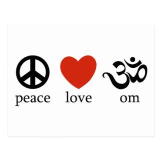 Postal Regalo de OM del amor de la paz
