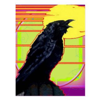 Postal Regalos del arte del cuervo del art déco por