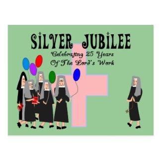 Postal Regalos del jubileo de plata de las monjas