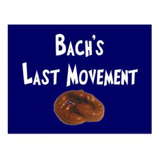 Postal Regalos hilarantes del movimiento pasado de Bachs