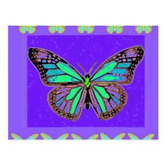 Postal Regalos púrpuras del monarca de la turquesa por