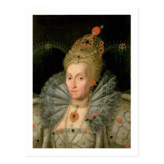 Postal Reina Elizabeth I (retrato de la longitud del