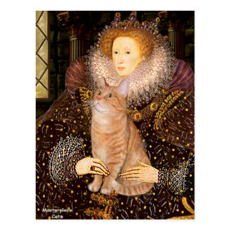 Postal Reina - gato de Tabby anaranjado 46