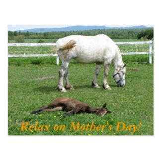 Postal ¡Relájese el el día de madre!