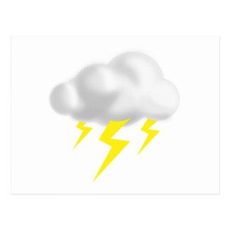 Postal Relámpago en nube de la tempestad de truenos