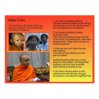 Postal Religión, Buddhism, verdades nobles