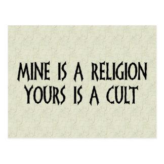 Postal ¿Religión o culto?