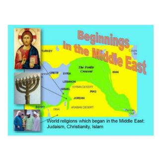 Postal Religiones del mundo, principios medio-orientales