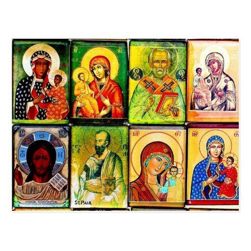 Postal religiosa del tema cristiano