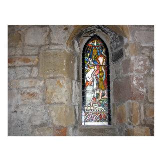 Postal religiosa del vitral