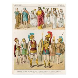Postal Religiosos griegos y los militares se visten