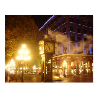 Postal Reloj del vapor, Vancouver, A.C.