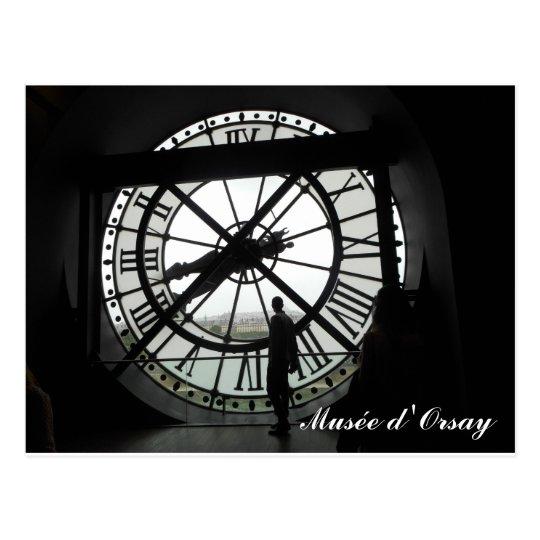 Postal Reloj d'Orsay de Musée (texto)