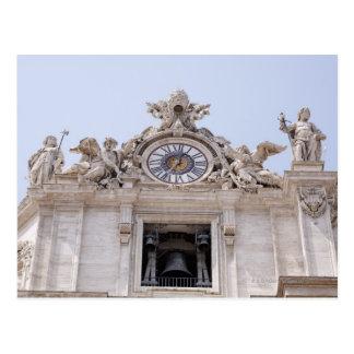 Postal Reloj y Bell, Ciudad del Vaticano, Roma, Italia