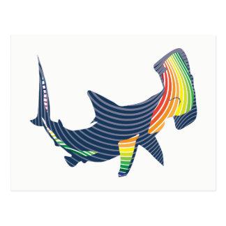 Postal Remolino del color del tiburón