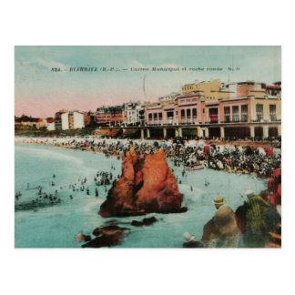 Postal Reproducción 1917 de Biarritz Le casino Municipal