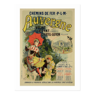 Postal Reproducción de una publicidad de poster el