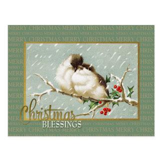Postal Reproducción del vintage de los SnowBirds de las