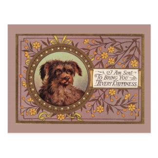 Postal Reproducción del vintage del perro de Brown