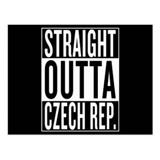 Postal República Checa del outta recto