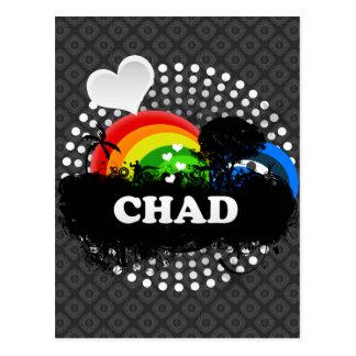 Postal República eo Tchad con sabor a fruta lindo