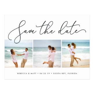 Postal Reserva azotada por el viento de la foto del boda