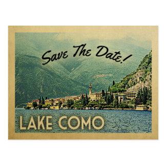 Postal Reserva de Como del lago la fecha Menaggio Italia