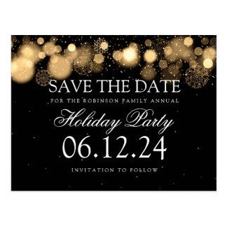 Postal Reserva de la celebración de días festivos el oro