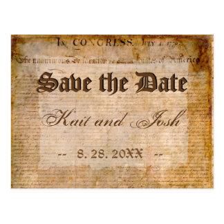 Postal Reserva de la Declaración de Independencia 1776 la