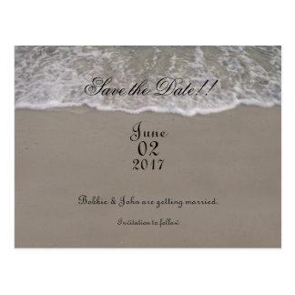 Postal Reserva de la marea del océano la fecha