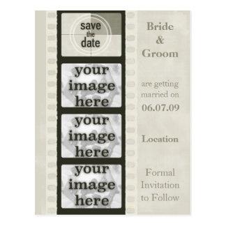 Postal Reserva de la tira de la película del vintage las