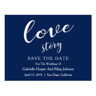 "Postal Reserva de ""Love Story"" del diseño moderno la"