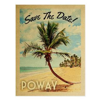 Postal Reserva de Poway California el vintage de la fecha