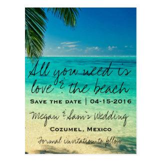 Postal Reserva del boda de México la fecha