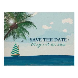 Postal Reserva del boda del destino la fecha