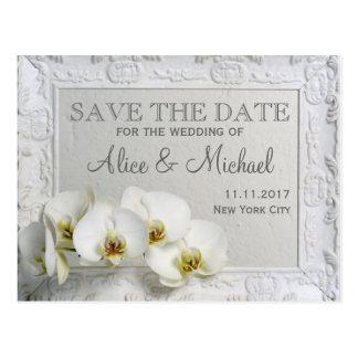Postal Reserva del boda del estilo elegante la fecha
