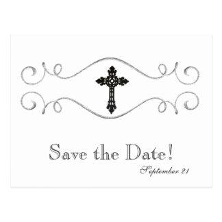 Postal Reserva del cristiano de la cruz céltica la fecha