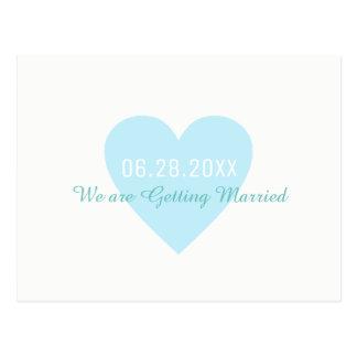 Postal reserva--fecha. casando conseguir casado
