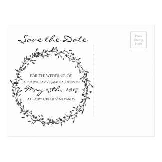 Postal Reserva--Fecha floral de la guirnalda