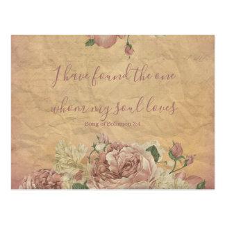 Postal Reserva floral del vintage la fecha