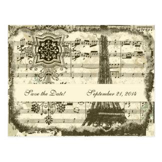 Postal Reserva negra de la crema de la música de la torre