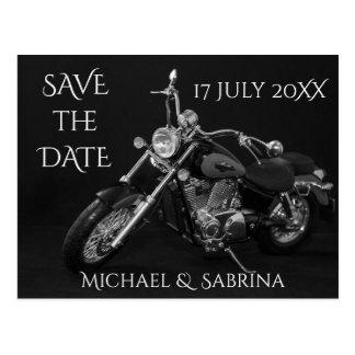 Postal Reserva personalizada de la motocicleta la fecha