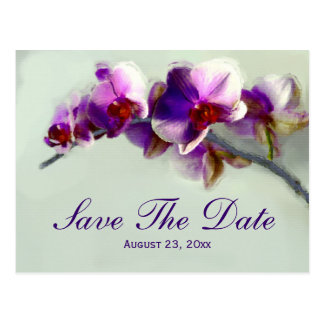 Postal Reserva radiante de la pintura de la orquídea la