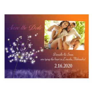 Postal Reserva romántica del boda de la foto del diente