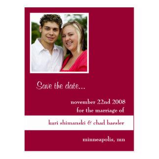 Postal Reserva rosada de la imagen la fecha